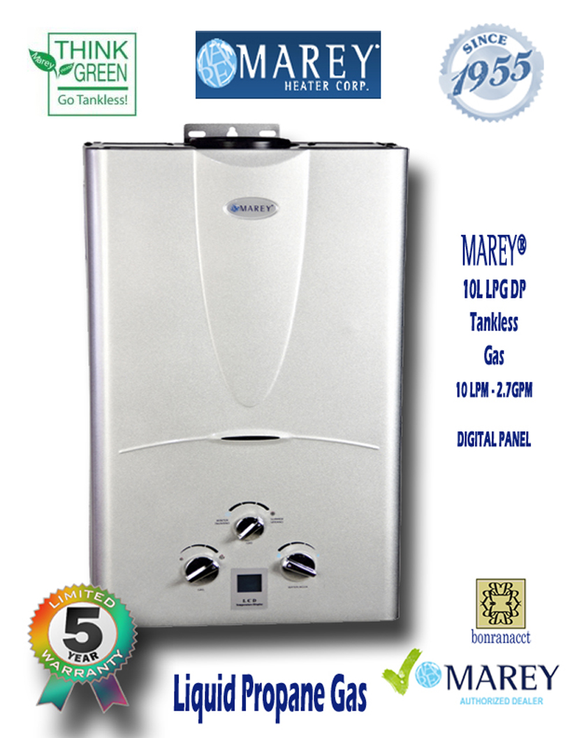 Marey GA10LPDP 2.7 GPM Propane Small House Water Heater