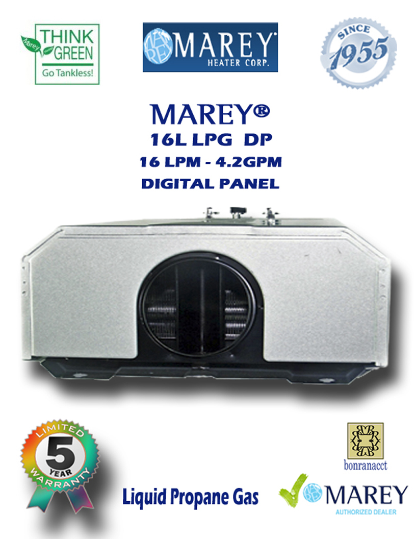Marey Refurbished REFGA16LPDP 4.2 GPM Propane Water Heater