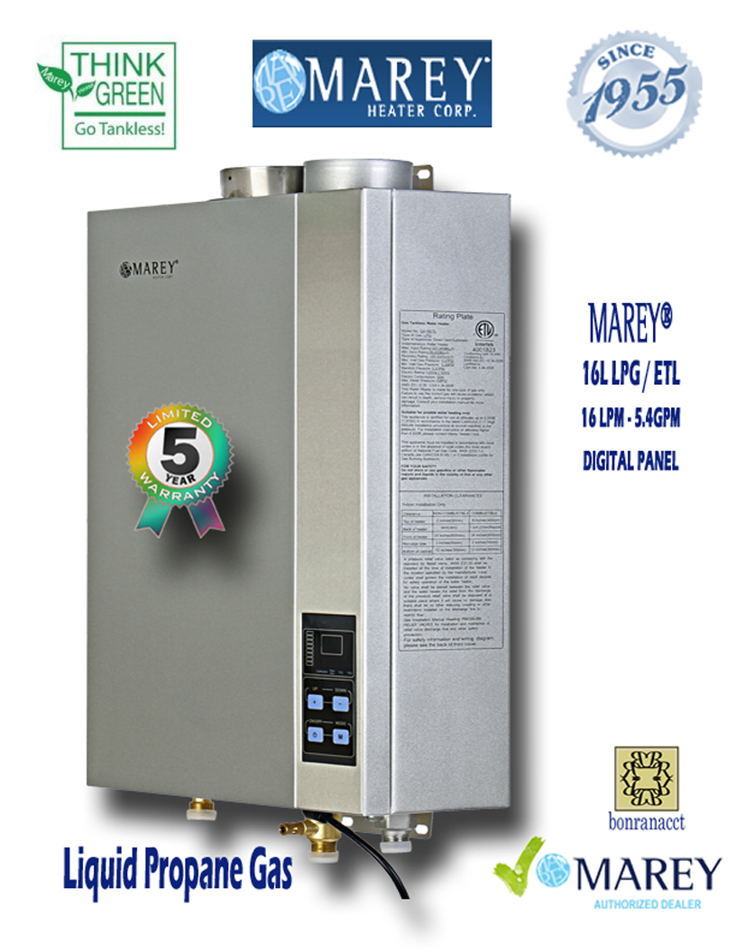 Marey Refurbished REFGA16LPETL 5.4 GPM Propane Water Heater