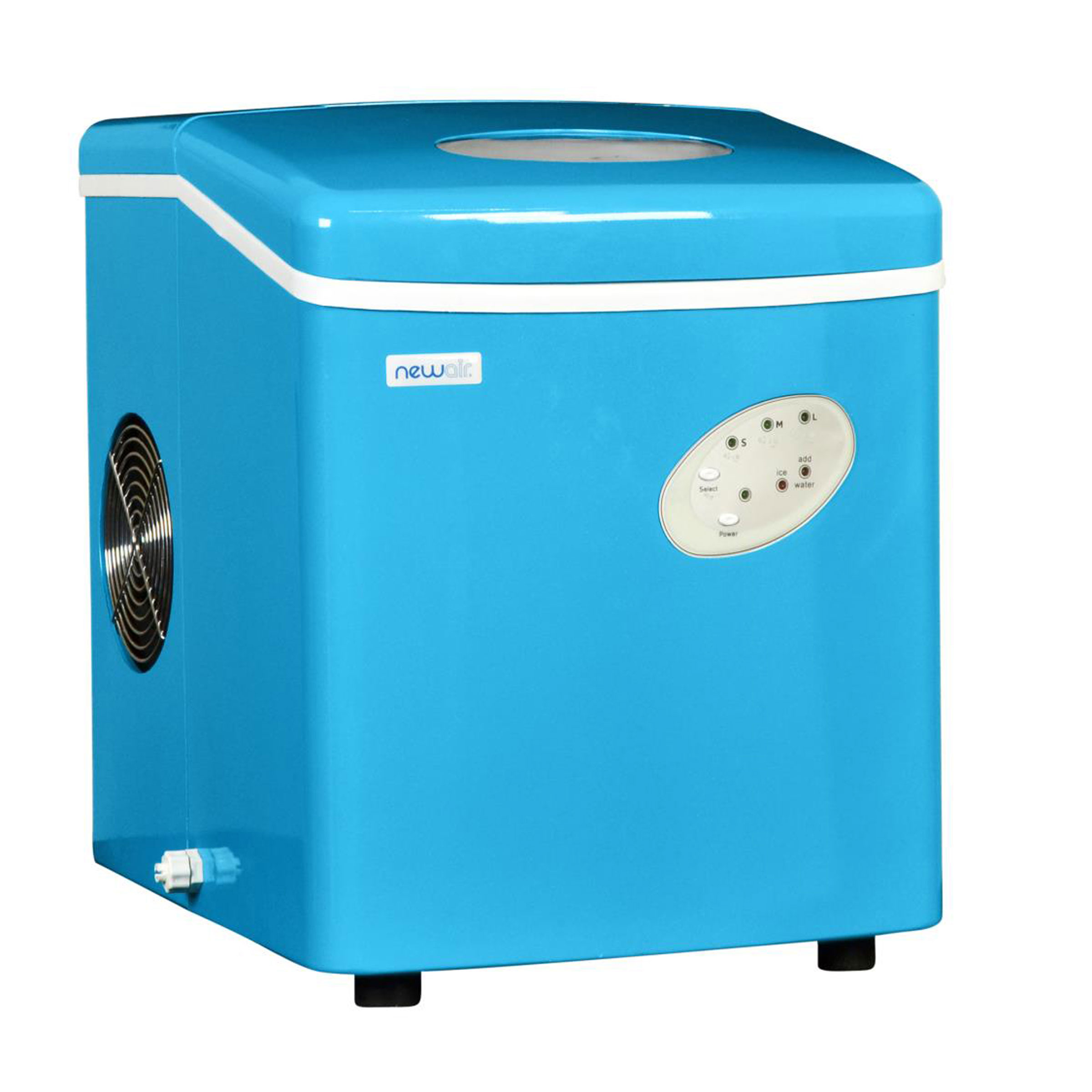 NEWAIR AI-100CB Portable Cyan Blue Ice Maker 28 lbs per day