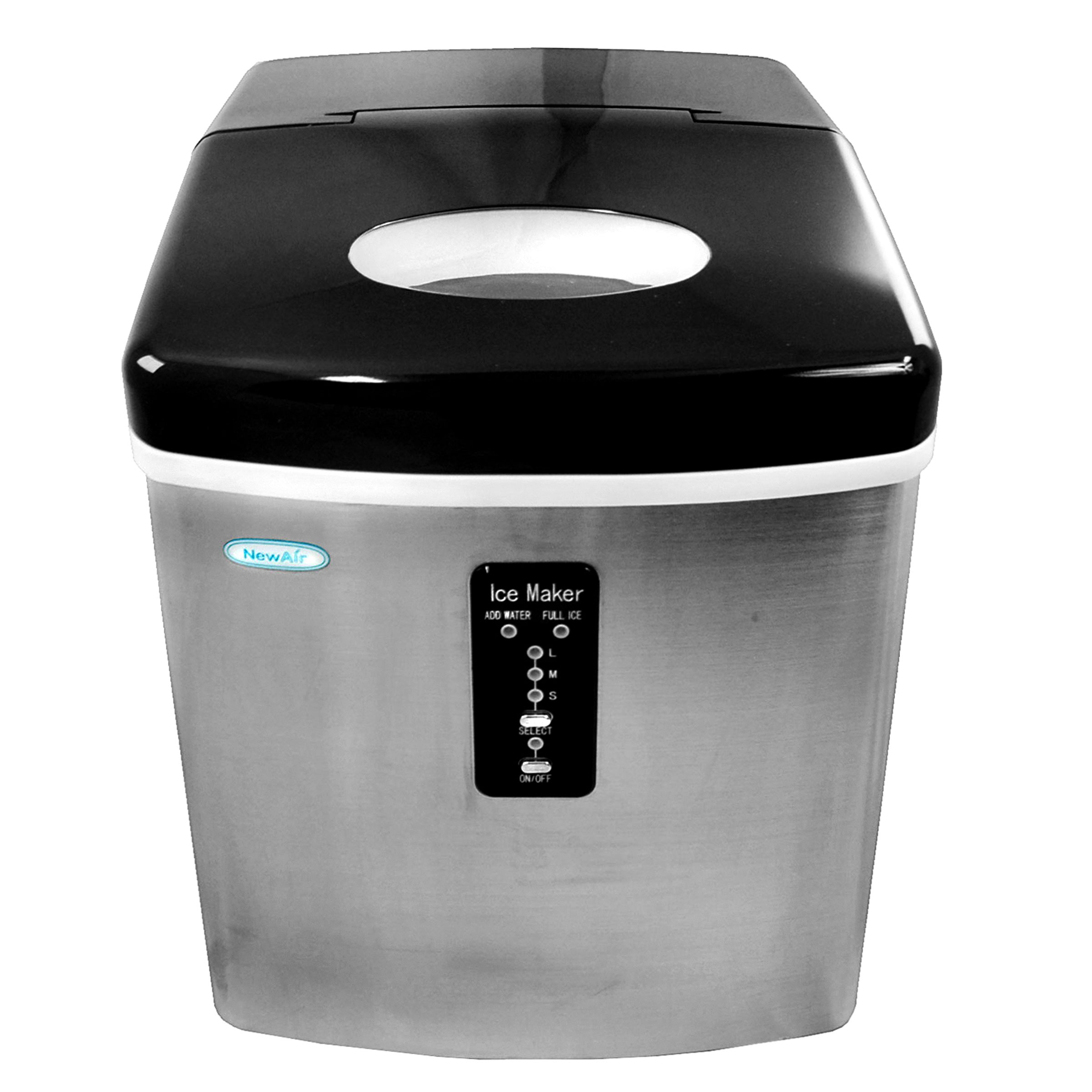 NEWAIR AI-100SS Portable Stainless Steel Ice Maker 28 lbs/day