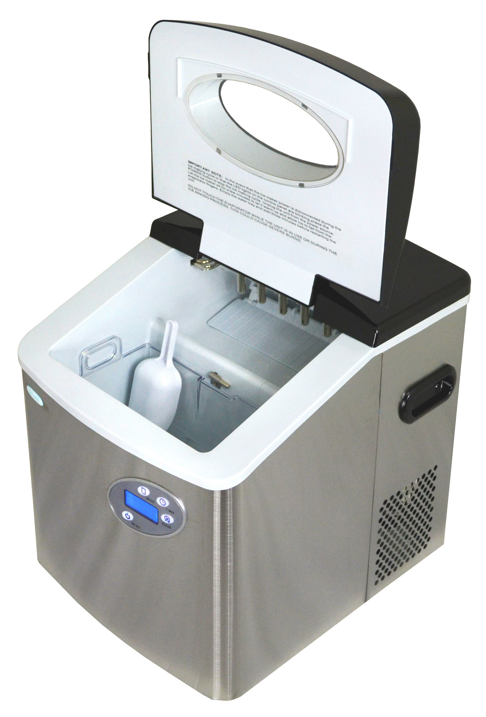 NEWAIR AI-215SS Stainless Steel Ice Maker 50 lbs per day