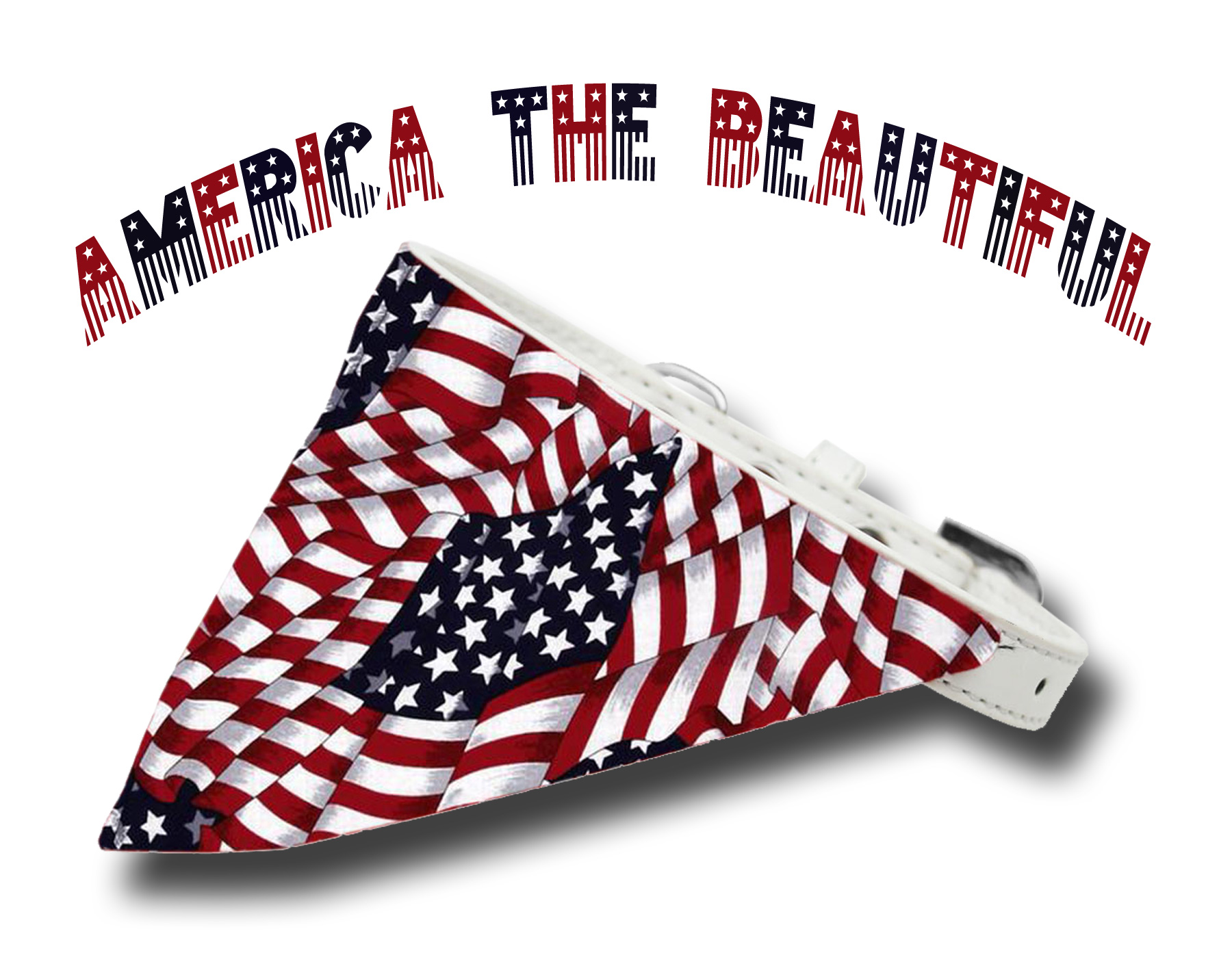 America the Beautiful Bandana Collar