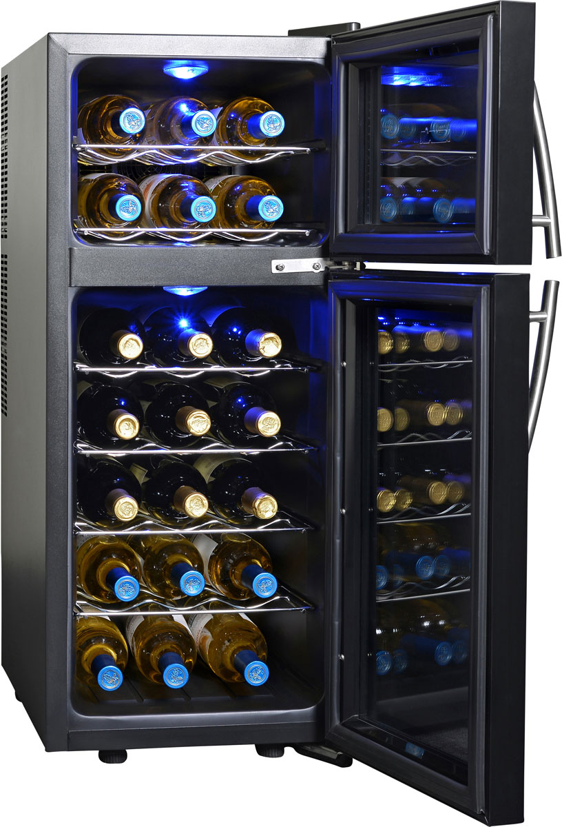 NewAir AW-210ED 21 Bottle Dual Zone Thermoelectric Wine Cooler