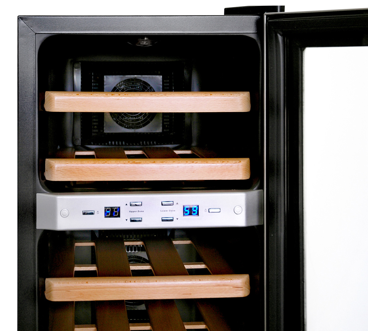 NewAir AW-211ED 21 Bottle Dual Zone Thermoelectric Wine Cooler