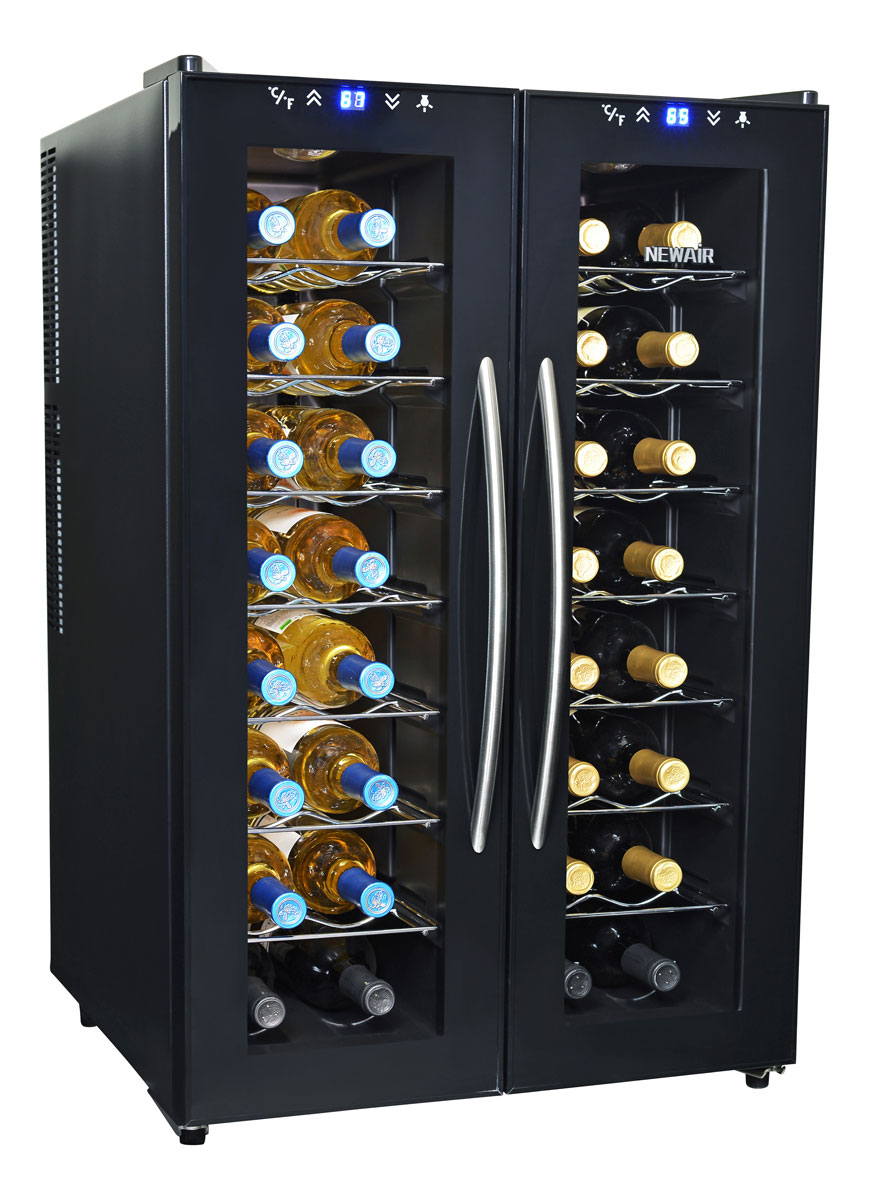 NewAir AW-320ED 32 Bottle Dual Zone Thermoelectric Wine Cooler