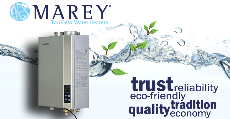 Go Green with Marey Tankless Water Heaters