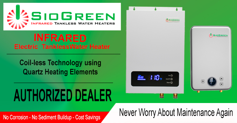 Infrared Technology with SioGreen Tankless Water Heaters