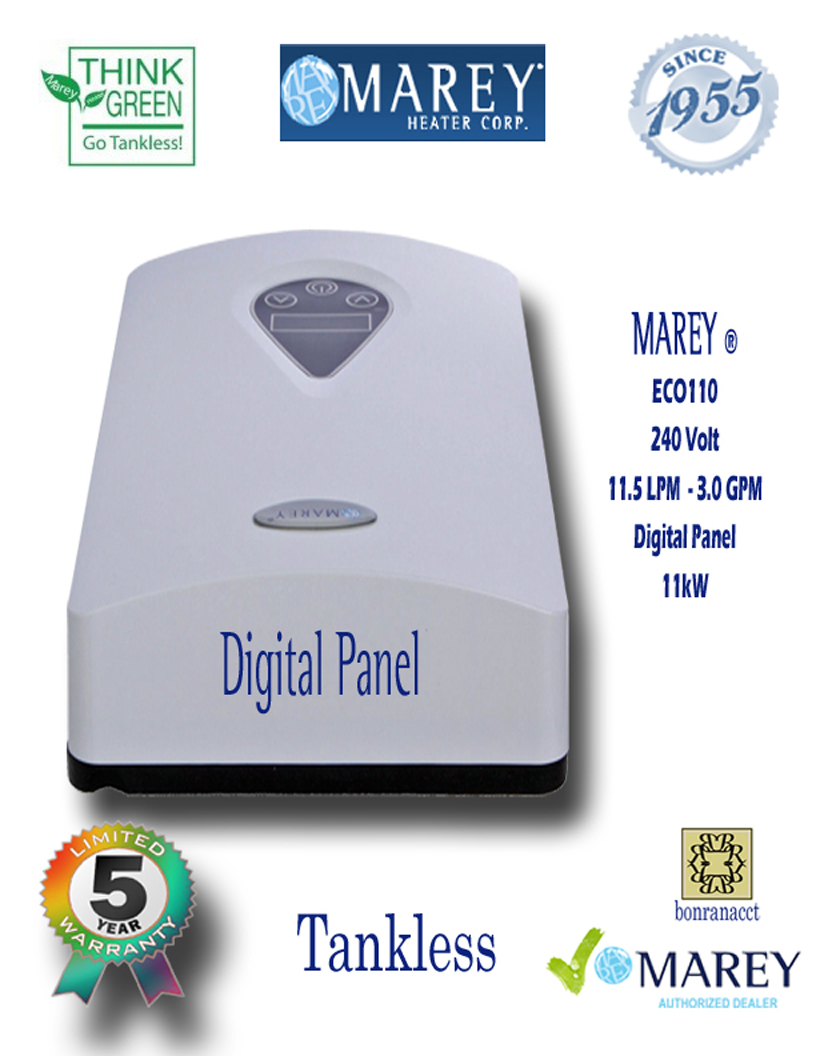 Marey ECO110 Electric Water Heater 220 Volt 3 GPM