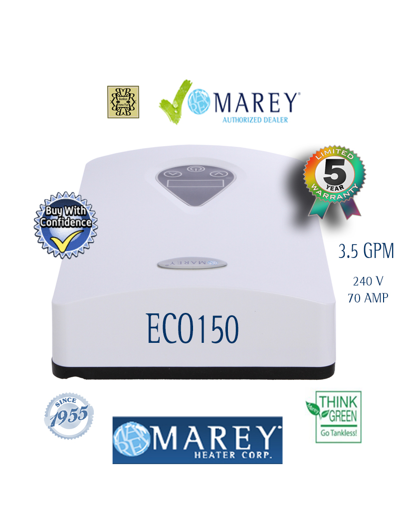 Marey ECO150 Tankless Water Heater 3.5 GPM 14.6kW
