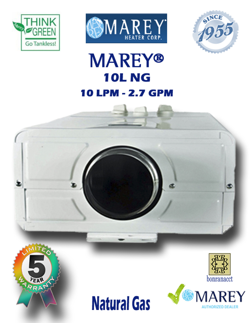 Marey Refurbished REFGA10LNG 2.7 GPM Natural Gas Water Heater
