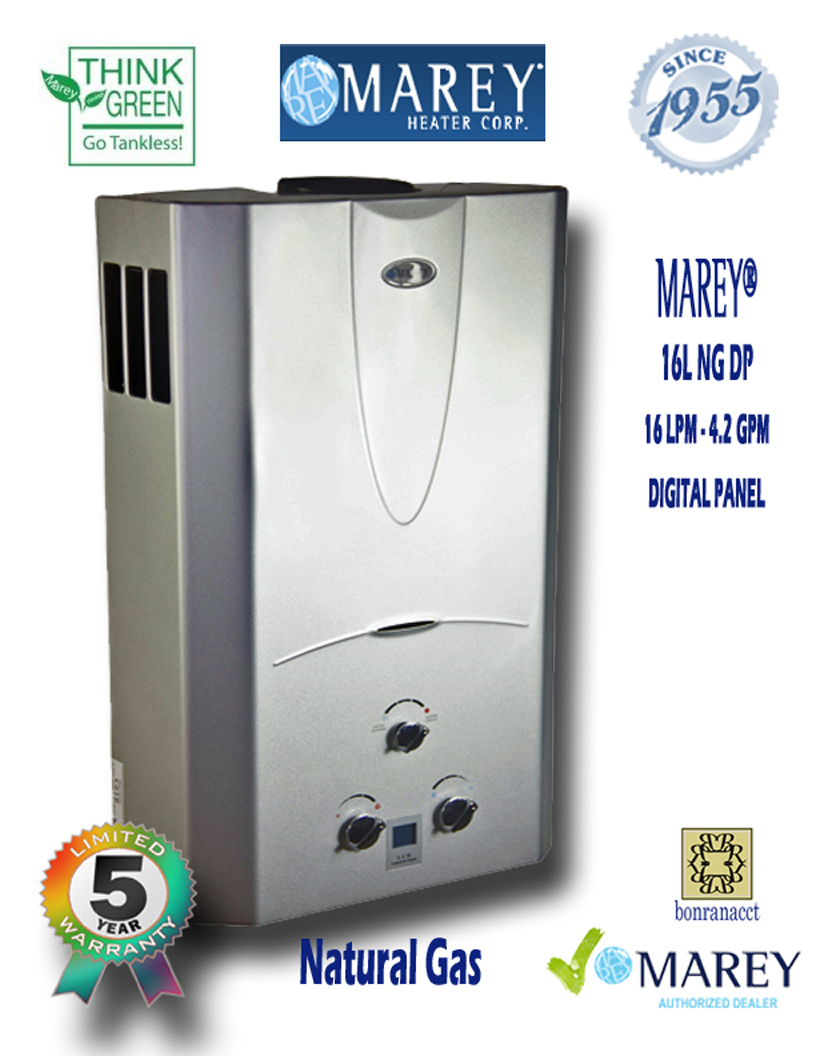 Marey Refurbished REFGA16NGDP 4.2 GPM Natural Gas Water Heater