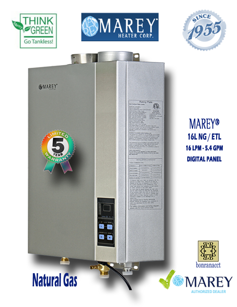 Marey GA16NGETL 5.4 GPM Natural Gas Water Heater