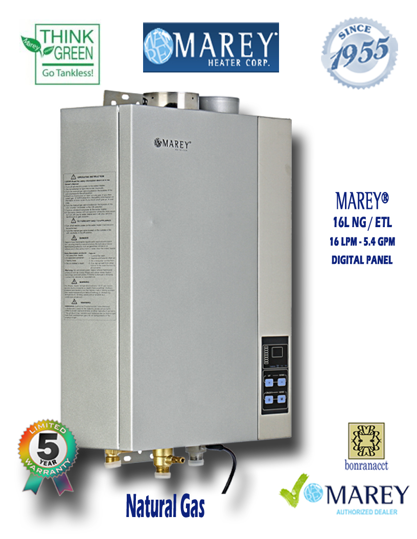 Marey Refurbished REFGA16NGETL 5.4 GPM Natural Gas Water Heater