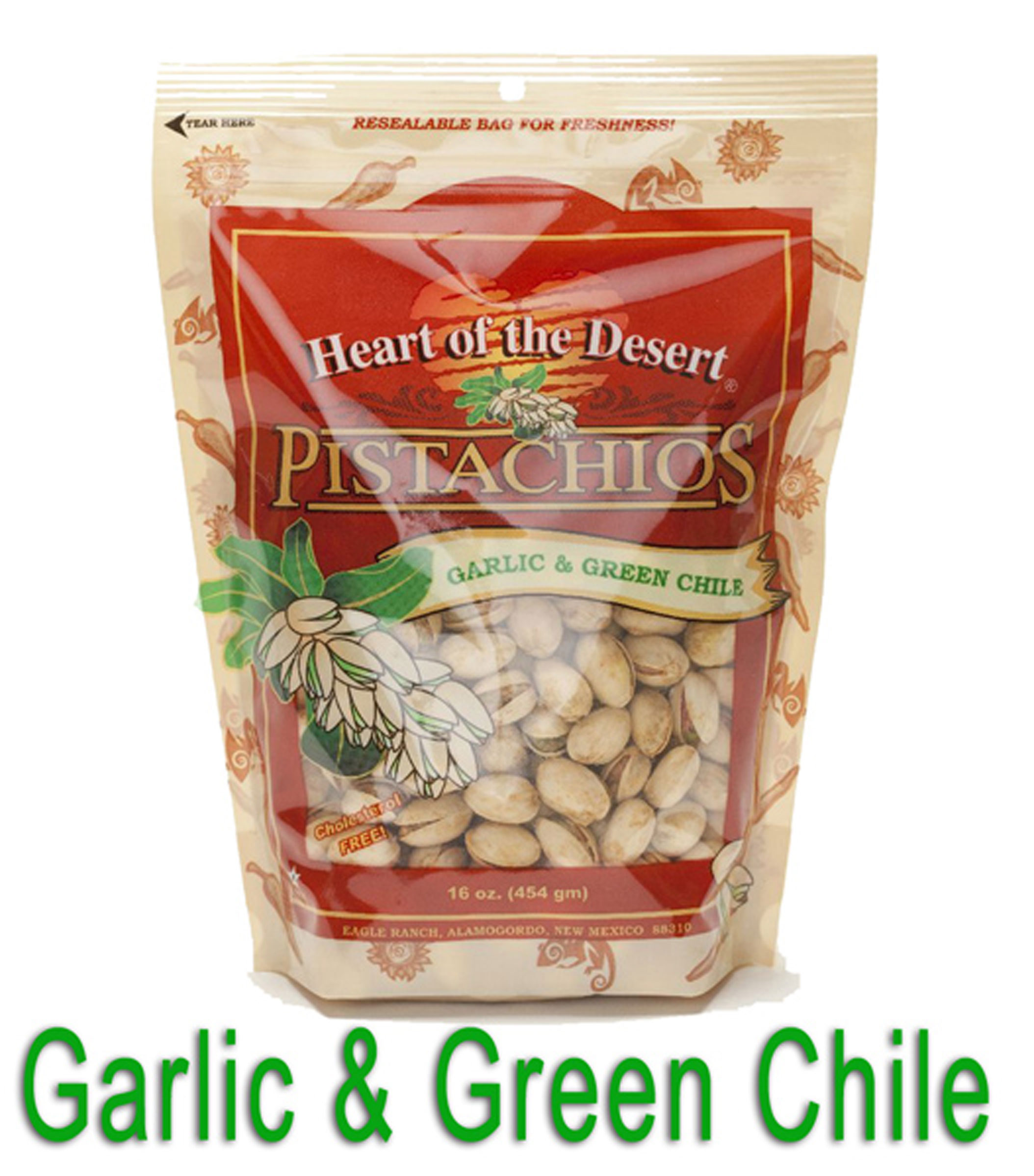 Heart of the Desert Garlic & Green Chile Pistachios (In-Shell)