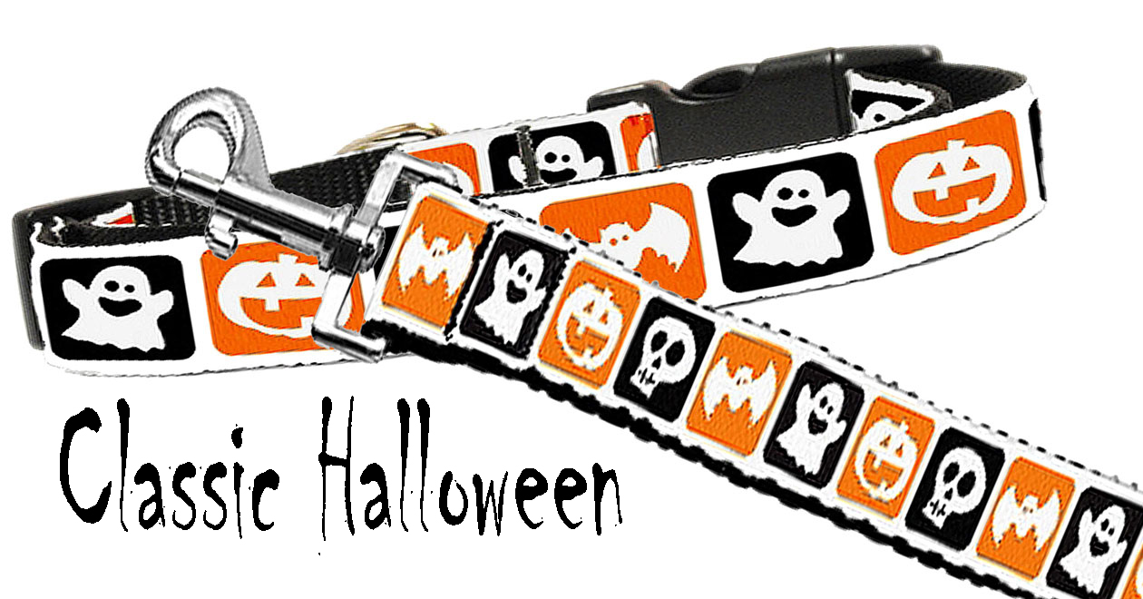 Halloween Nylon Dog Collar - Click Image to Close