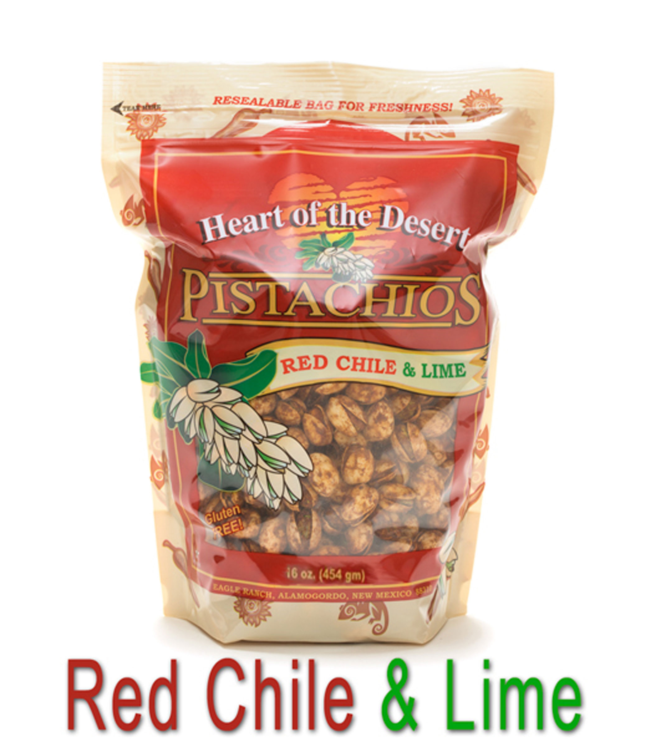 Heart of the Desert Red Chile & Lime Pistachios (In-Shell)