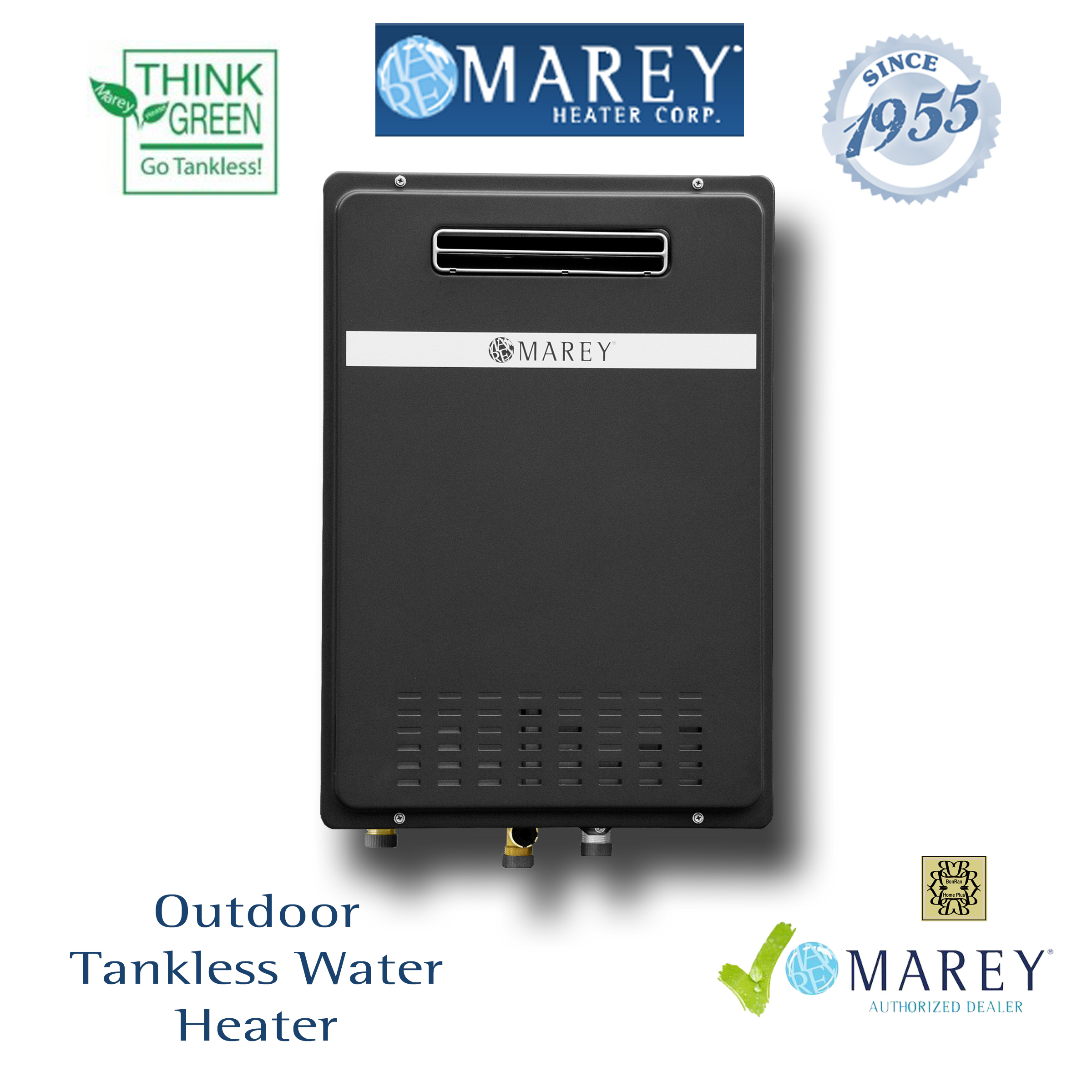 Marey GA22ONG 6 GPM Natural Gas Outdoor Tankless Water Heater