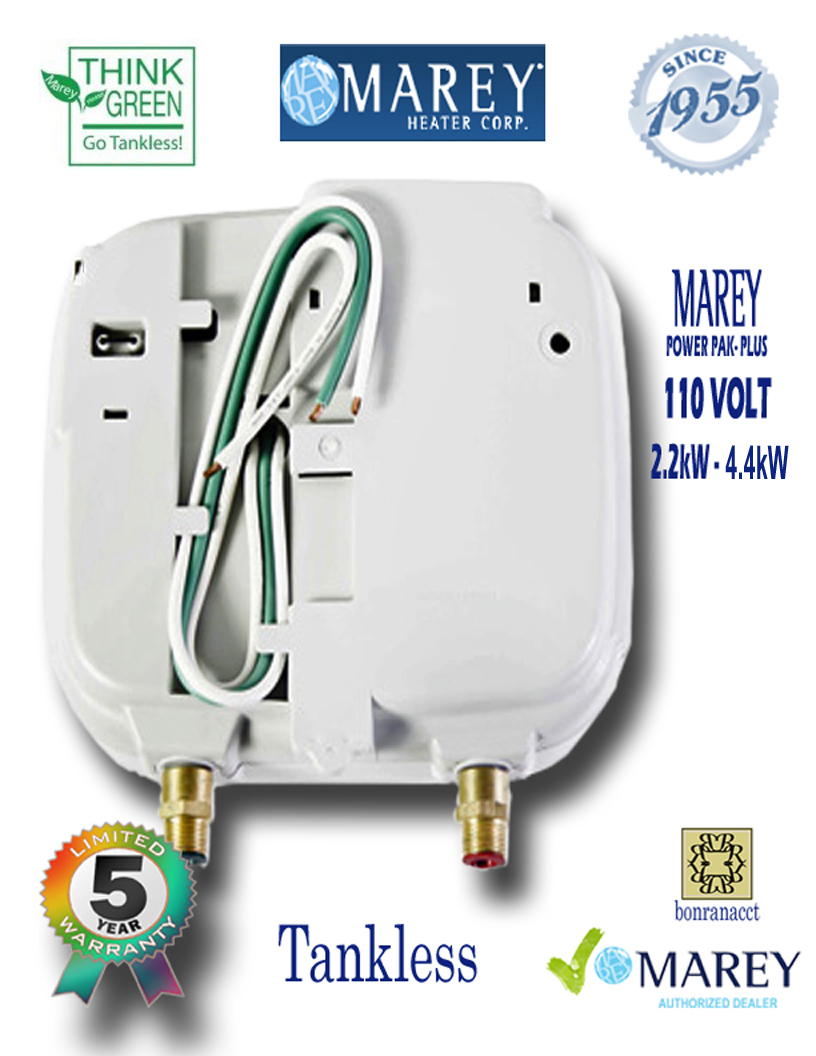 Marey Power Pac Plus 110 Electric Point of Use 110 Volt 2 GPM