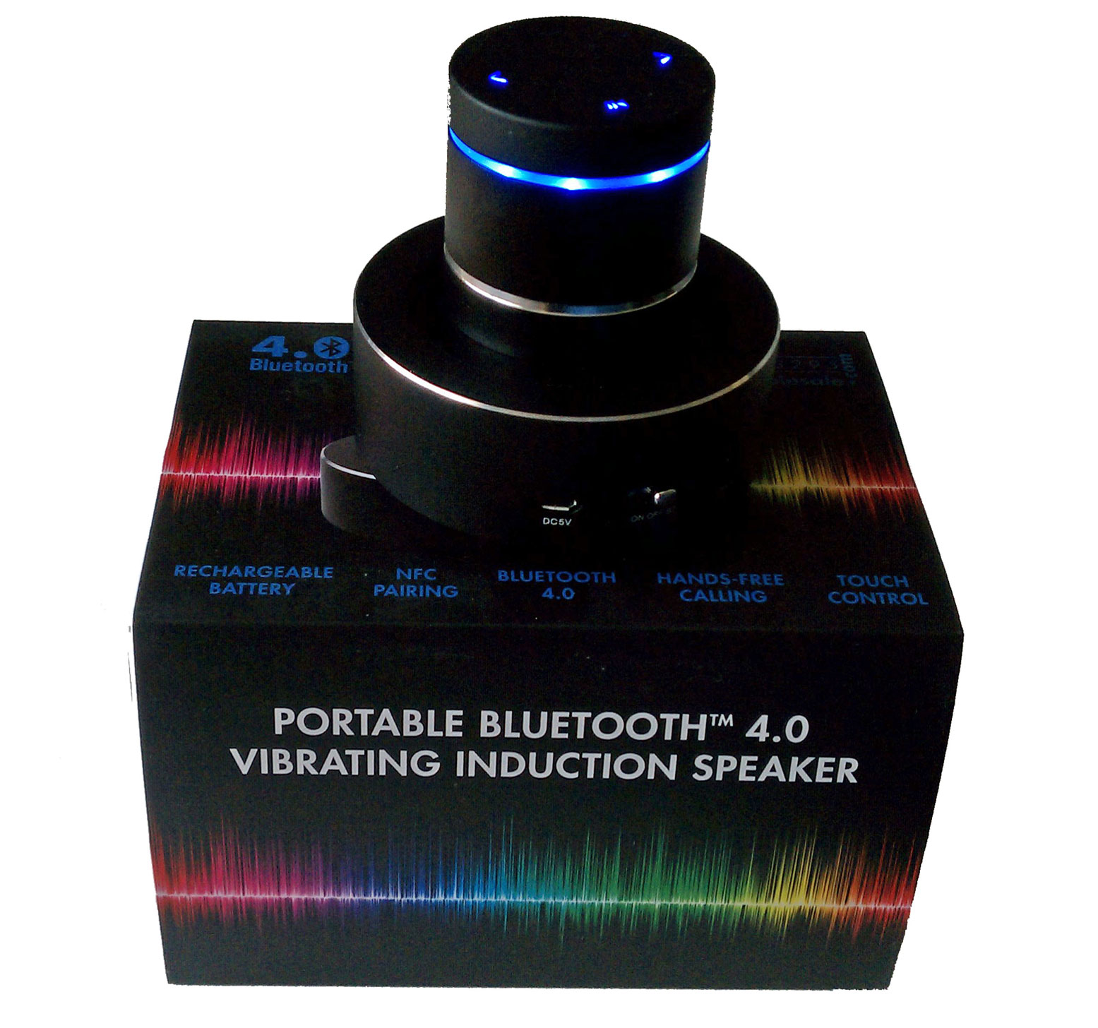 Bluetooth 4.0 Portable Vibrating Induction Speaker