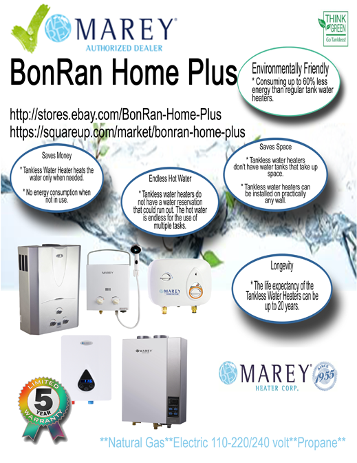 Marey Tankless Water Heaters