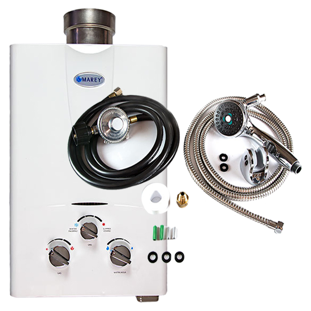 Marey GA5LPOB Tankless Water Heater Bundle
