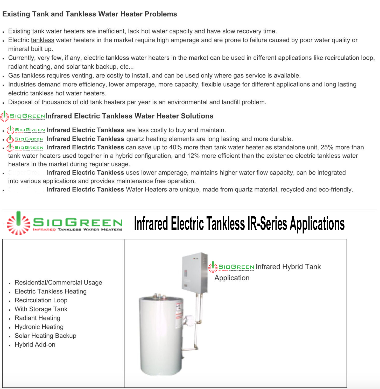 Siogreen Infrared Tankless Water Heater Ir 288pou Siogreen Infrared Tankless Water Heater Ir 288pou Ir288 Pou 369 99 Bonran Home Plus Bringing Products That Create A Safe Comfortable And Relaxing Environment To Your